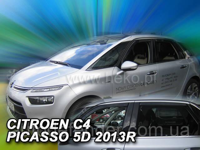Дефлекторы окон (вставные!) ветровики Citroen C4 Picasso Mk2 2013- 4шт., HEKO, 12259