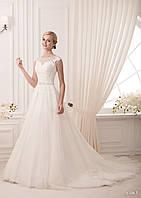 Свадебное кружевное платье с закрытым верхом