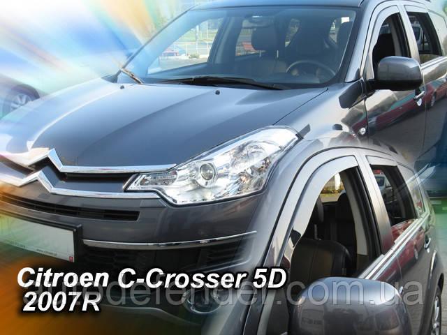 Дефлекторы окон (вставные!) ветровики Citroen C-Crosser 2007-2013 4шт., HEKO, 12239