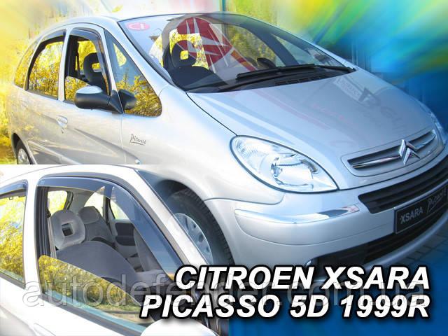 Дефлекторы окон (вставные!) ветровики Citroen Xsara Picasso 1999- 4шт., HEKO, 12219