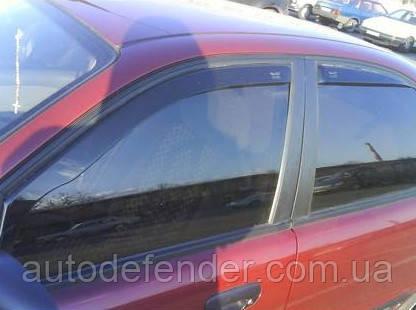 Дефлекторы окон (вставные!) ветровики Daewoo/Chevrolet Lanos 1997- ZAZ Sens - 4D 4шт., HEKO, 21405