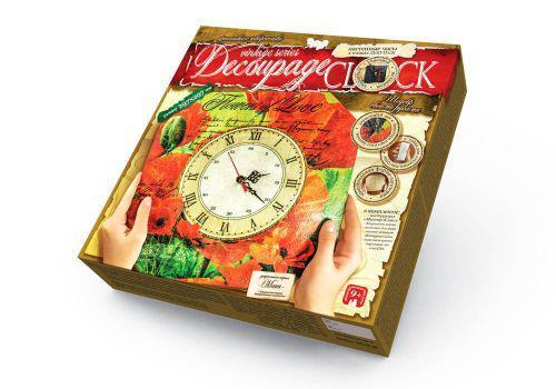 """Комплект креативного творчества """"Decoupage Clock Цветок любви"""" с рамкой Danko Toys DKC-01-08 ( TC100036)"""