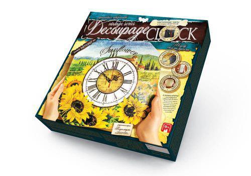 """Комплект креативного творчества """"Decoupage Clock Ромашки"""" с рамкой Danko Toys DKC-01-09 ( TC100037)"""