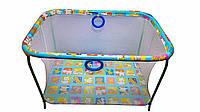 Манеж игровой KinderBox с мелкой сеткой Разноцветный kmp 2, КОД: 369358