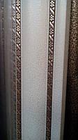 Карниз алюминиевый двойной с двойным молдингом антик -1,5м