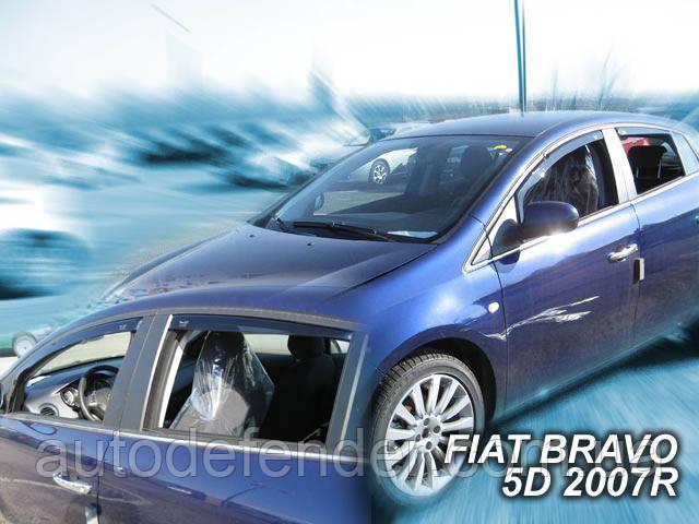 Дефлектори вікон (вставні!) вітровики Fiat Bravo 2009-2016 після рестайлінгу 5d 4шт., HEKO, 15151