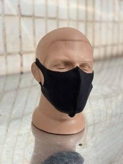 Маска лицевая защитная мужская черная