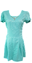Бирюзовое женское платье