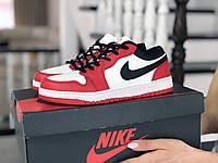 Кроссовки Nike Air Jordan 1 Low, белые с красным и черным, 36р. по стельке 22,9см