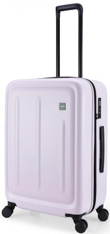 Пластиковый средний чемодан Lojel Strio белый на 73л