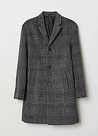 Пальто шерстяное HM 26986378 46 Темно-серый 2000000873572, КОД: 1582355