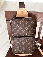 Сумка-ранец в стиле Louis Vuitton коричневая