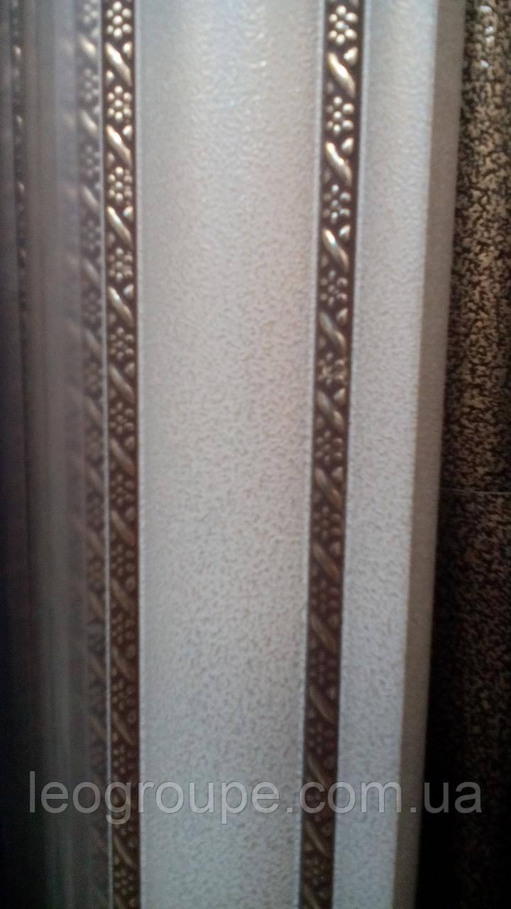 Карниз алюминиевый двойной с двойным молдингом антик -2,5м