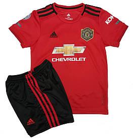 Форма для футбола Манчестер Юнайтед 19-20 (Manchester United) красная домашняя (основная)