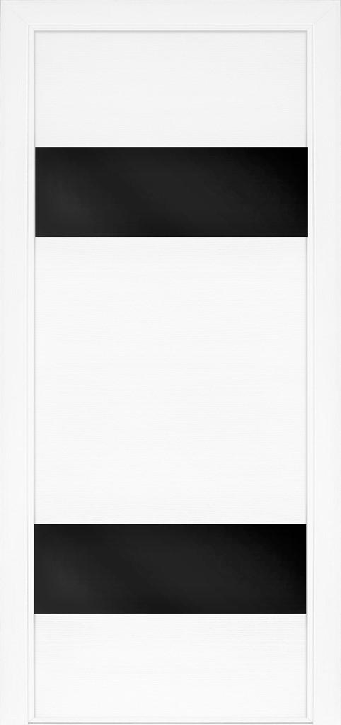 Межкомнатная дверь для частного дома Модель 22 Ясен білий емаль, остекленная