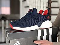 Кроссовки Adidas, темно синие с белым