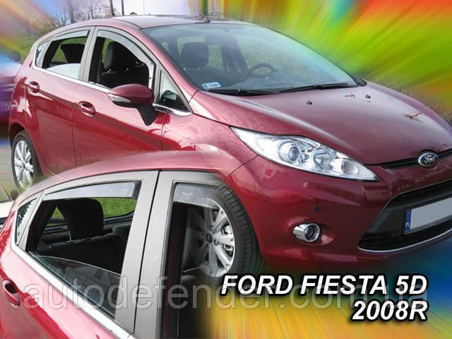 Дефлекторы окон (вставные!) ветровики Ford Fiesta 2008-2017 5D 4шт., HEKO, 15287