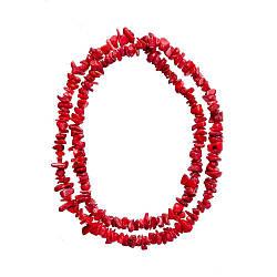 Бусы sherl коралл L-64 D-10х6 Красный бс-крл-396, КОД: 1334025