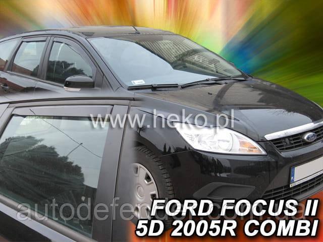 Дефлектори вікон (вставні!) вітровики Ford Focus 2004-2011 5D 4шт. Combi, HEKO, 15227