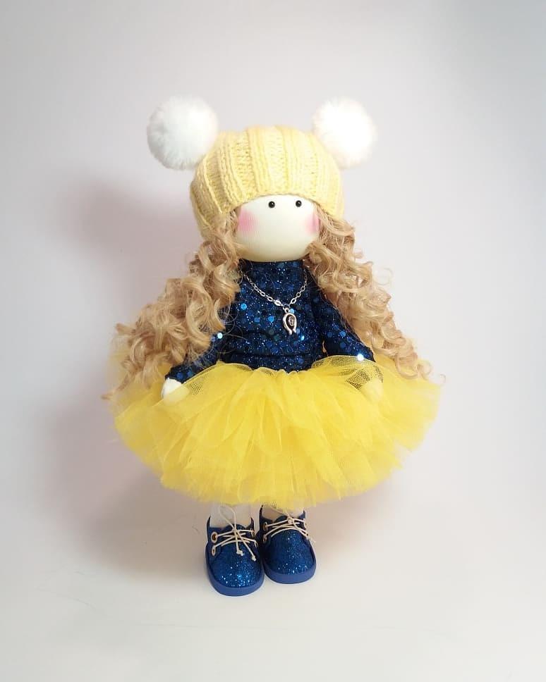 Текстильна інтер'єрна лялька, лялька в подарунок