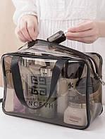 Прозрачная водонепроницаемая сумка-косметичка