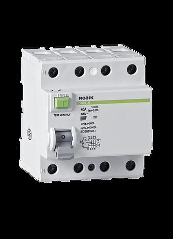 Диференційний вимикач (ПЗВ) Noark 10кА 40А 4P 30mA тип AC Ex9CL-H 100655, фото 2