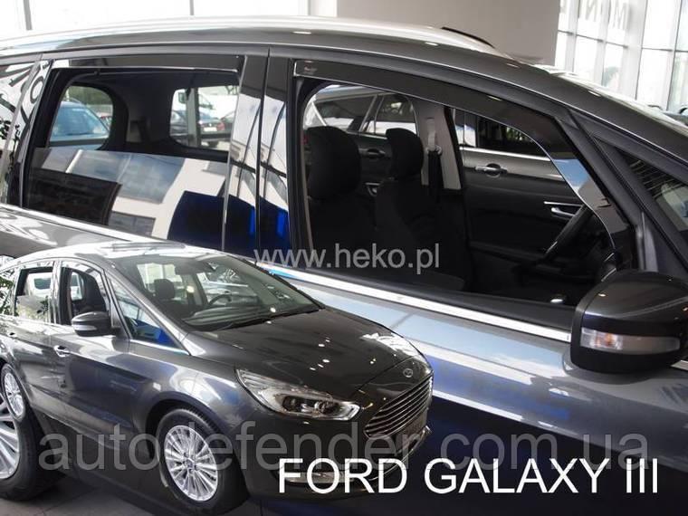 Дефлекторы окон (вставные!) ветровики Ford Galaxy III 2015- 4шт., HEKO, 15316
