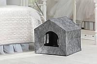 Домик для животных Digitalwool Теремок без подушки 40 х 40 х 40 см Серый DW-92-10, КОД: 969428