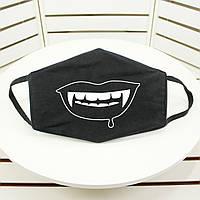 Маска под заказ. Защитная маска для лица, черного цвета с вашим изображением под заказ