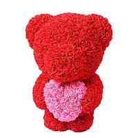 Мягкая игрушка Мишка из роз Bear Flowers Red 45 см + подарочная коробка hubDJcJ35515, КОД: 1268860