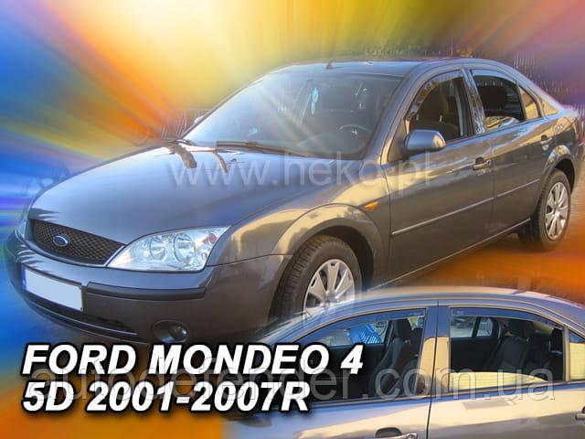 Дефлекторы окон (вставные!) ветровики Ford Mondeo 2000-2007 4D 4шт., HEKO, 15232