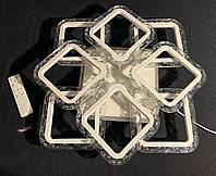 Люстра светодиодная квадраты 4+4 белая 100 Ватт, фото 1