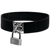 Чокер с замочкомSex And Mischief - Lock & Key Collar, полиэстер, на липучке