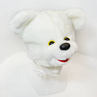 Маскарадная шапочка Kronos Toys Медведь Белый zol237-2, КОД: 144972