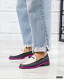 Стильные кожаные туфли женские лоферы, фото 4