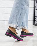 Стильные кожаные туфли женские лоферы, фото 3