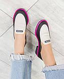 Стильные кожаные туфли женские лоферы, фото 6