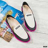 Стильные кожаные туфли женские лоферы, фото 2