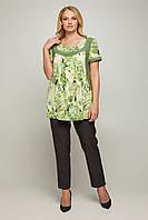 Нарядна жіноча блуза з трикотажу масло, фото 1
