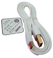 Дата кабель micro-USB Remax Gold Plating RC-048m, 3А, белый