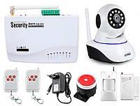 Беспроводная сигнализация Kerui GSM G10A + WI-Fi IP камера для дома офиса DHFHD89DKDDD, КОД: 1581837