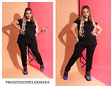 Спортивный свободный костюм женский из двухнитки из х/б стрейч высокого качества. р.50,56/58 код 6002С, фото 2
