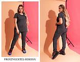 Спортивный свободный костюм женский из двухнитки из х/б стрейч высокого качества. р.50,56/58 код 6002С, фото 3