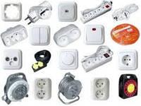 Электро фурнитура ( Розетки, выключатели, рамки, заглушки, кнопки, механизмы )