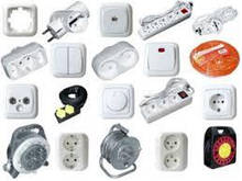 Электрофурнитура (Розетки, выключатели, рамки, заглушки, кнопки, механизмы)