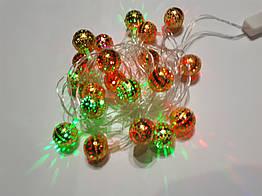 Гирлянда декоративная Delux Шарики золотистые 3.5 м 230BG, КОД: 155186