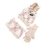 Комплект шапка, снуд, перчатки Suve 7-12 лет Розовый TUR 51231 pink, КОД: 1469444