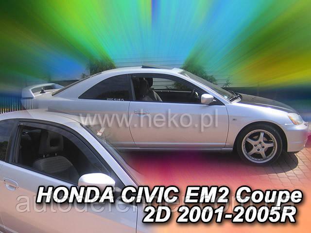 Дефлекторы окон (вставные!) ветровики Honda Civic 2000-2006 3D 2шт., HEKO, 17115