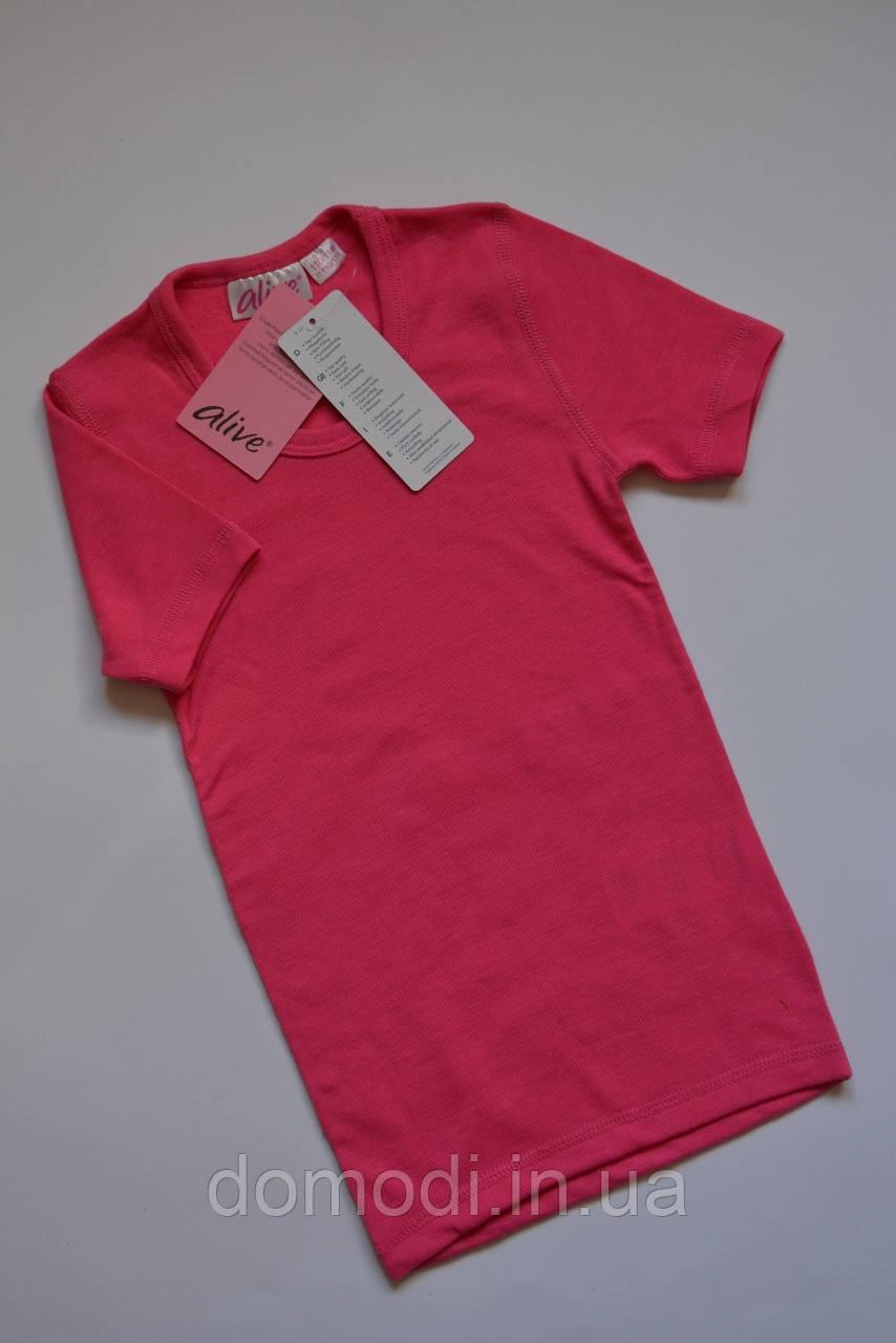 Бавовняна розова футболка фірми Alive (4-6 років).