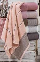 Набор 6 махровых полотенец Durul Havlu Ton 70х140 см банные Разноцветные psgSA-4295, КОД: 944999